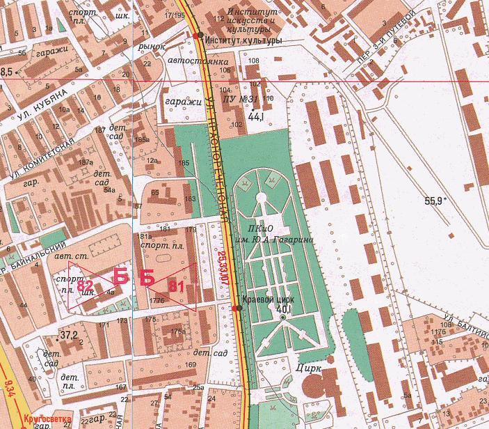 Карта Хабаровска с улицами и