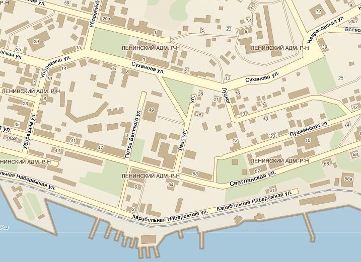 Карта города Владивостока